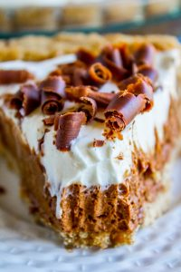 Classic French Silk Pie with Really Thick Graham Cracker Crust