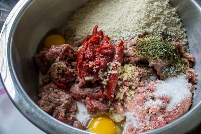 meatloaf ingredients in a bowl