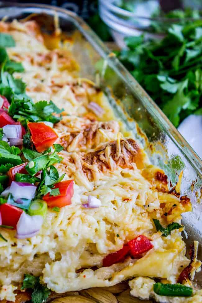 cream chicken enchiladas with cheese