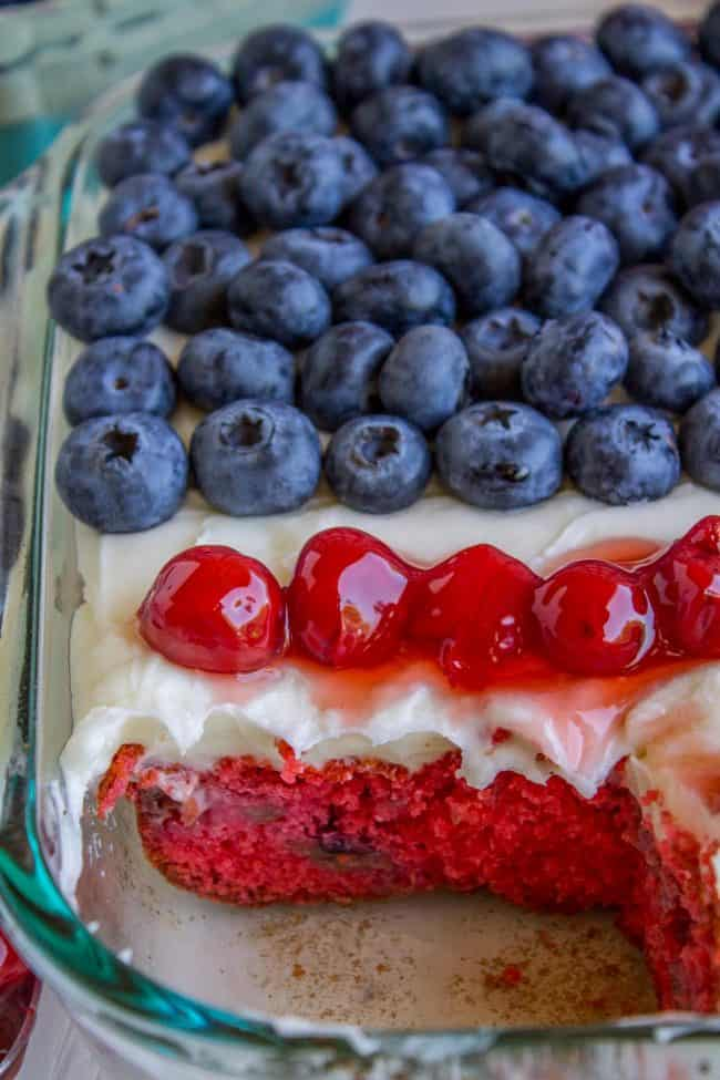 cherry cake with american flag
