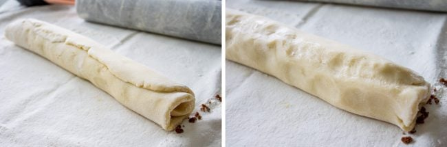 sugar cookie cinnamon rolls dough rolled up
