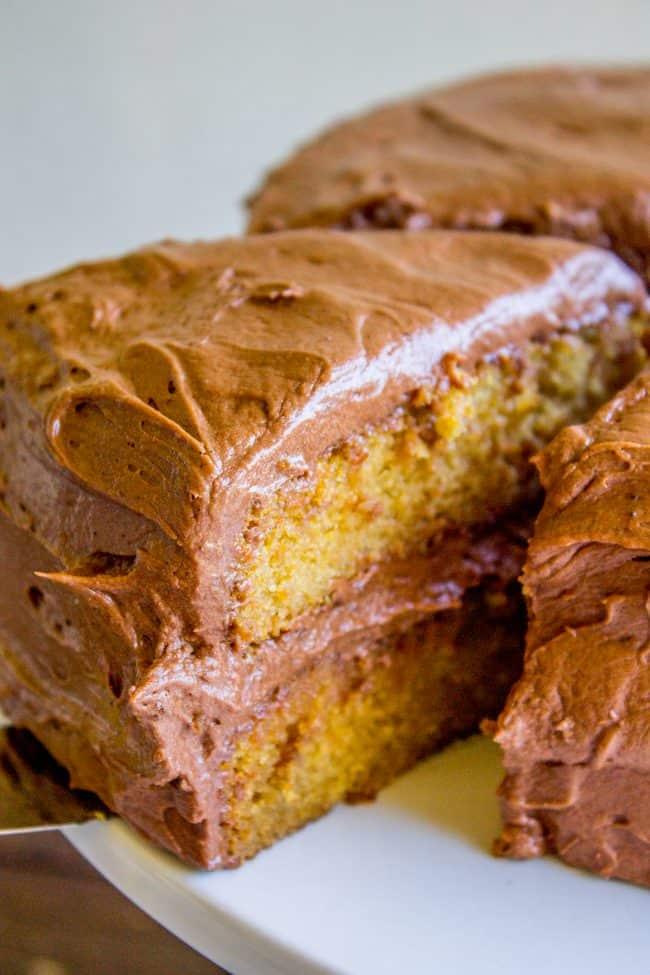 brown sugar yellow cake