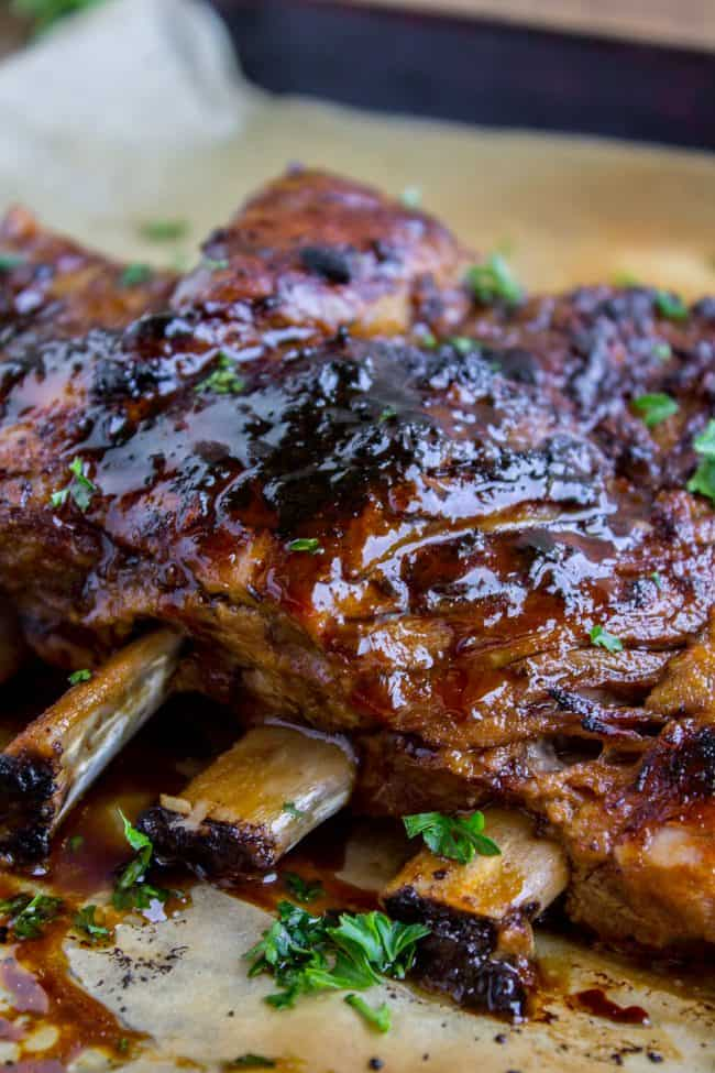 slow cooker pork ribs with glaze