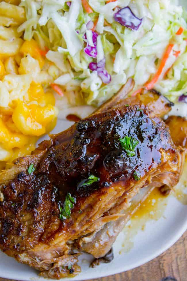 slow cooker ribs with honey balsamic glaze