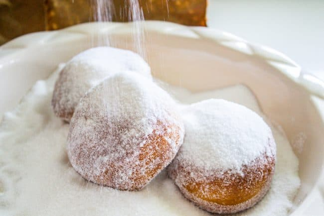donut recipe - sugared