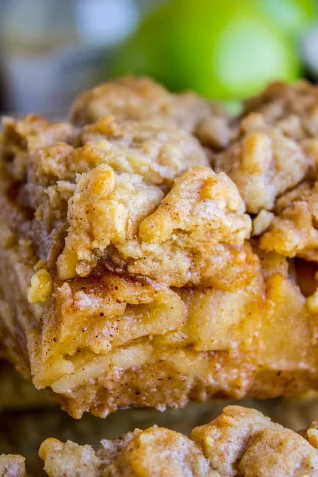 apple pie bars recipe the food charlatan