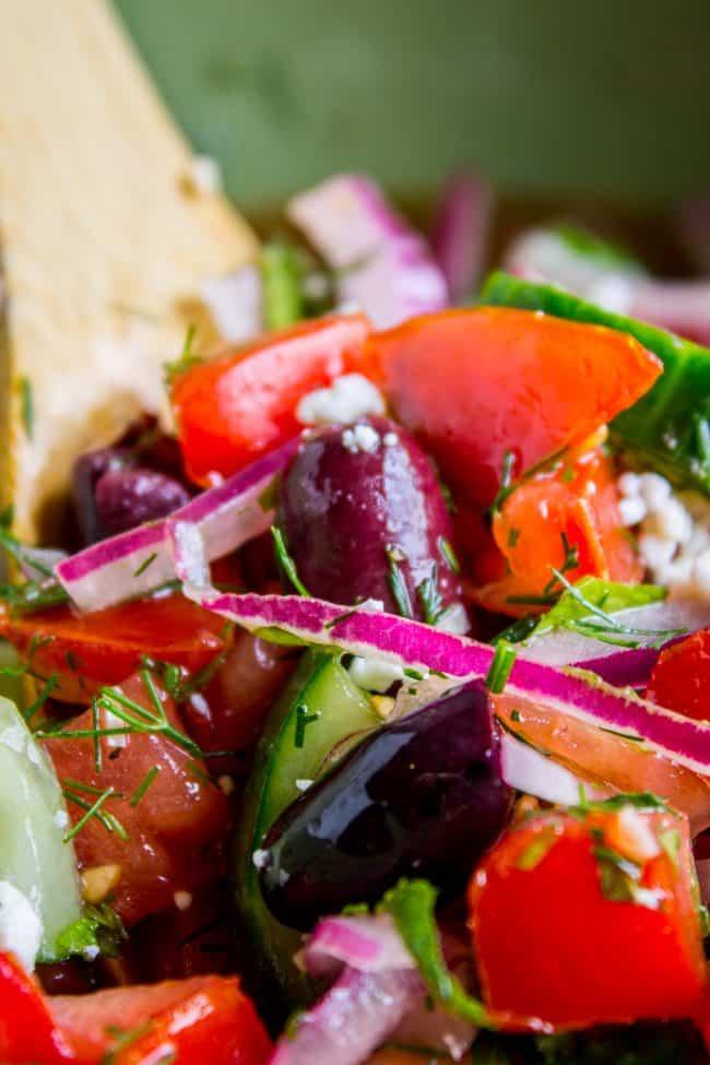 feta cheese in Greek salad