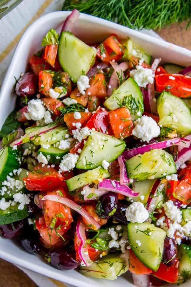 Greek salad recipe with kalamata olives