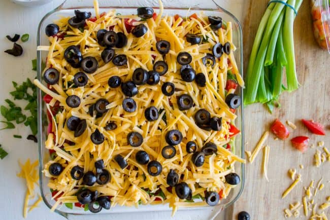 7 layer bean dip with cheese