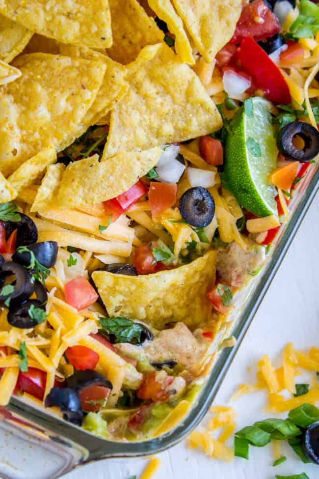7 layer dip with black olives