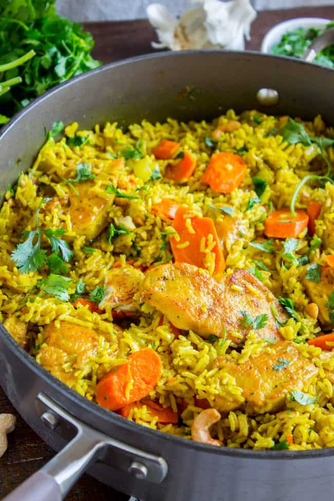 chicken biryani with basmati rice