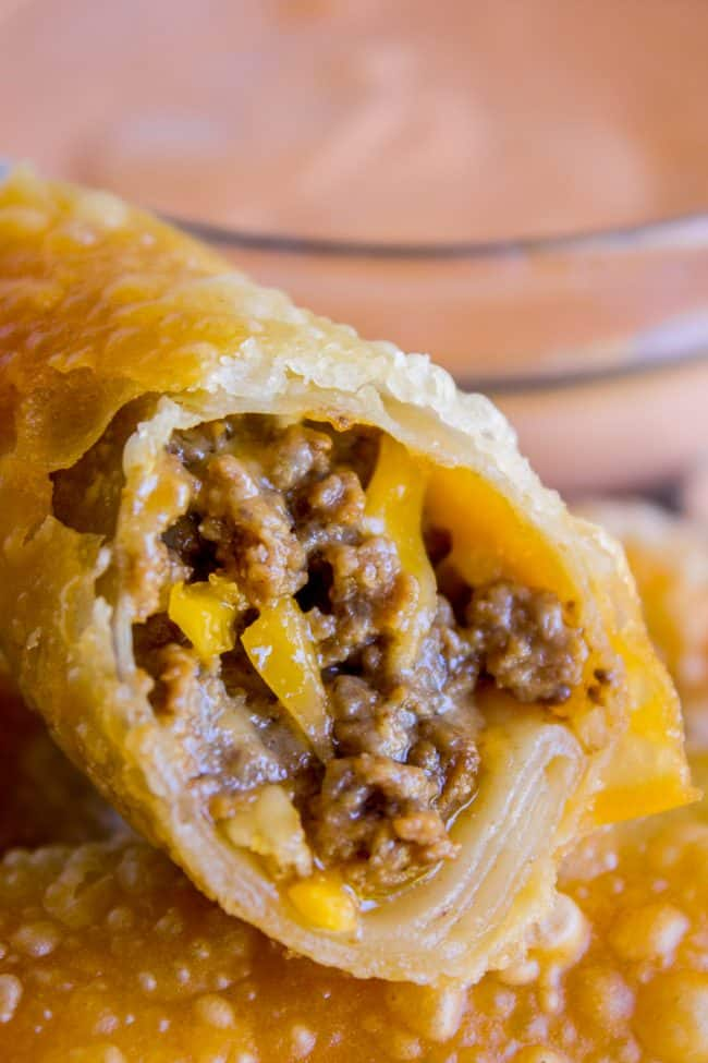 Cheeseburger Egg Rolls Recipe The Food Charlatan