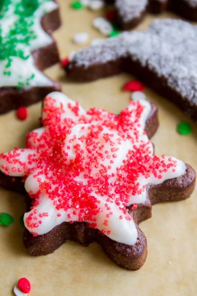 chocolate sugar cookies from scratch