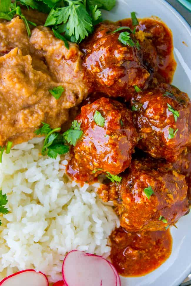easy baked mexican meatballs recipe