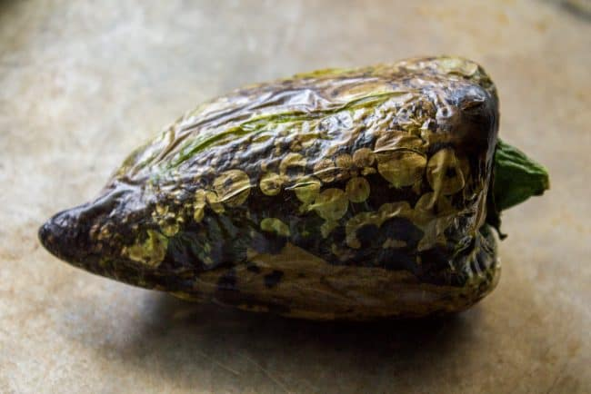 how to roast a poblano