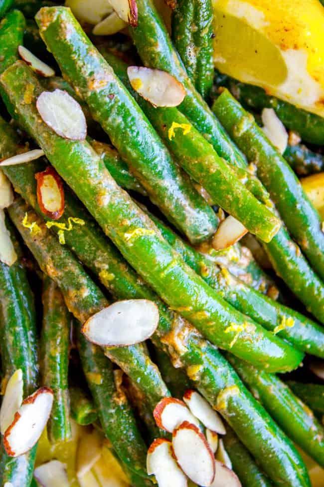 green beans almondine