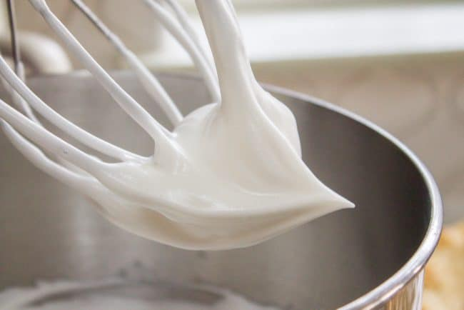 egg whites beaten until stiff