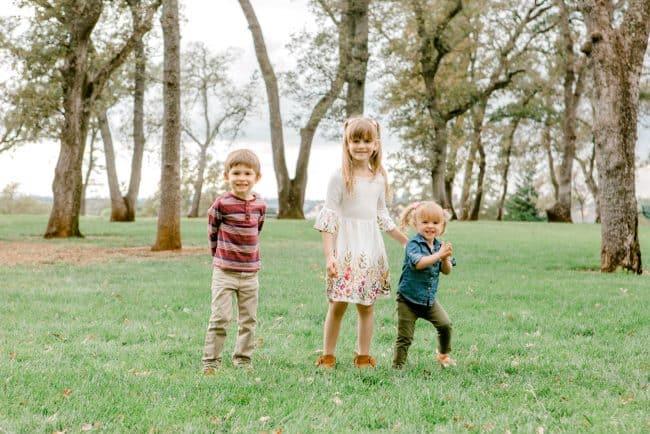 Cute kids in nature