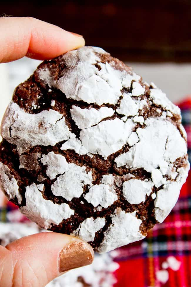 Chocolate Crinkle Cookies Ultra Fudgy