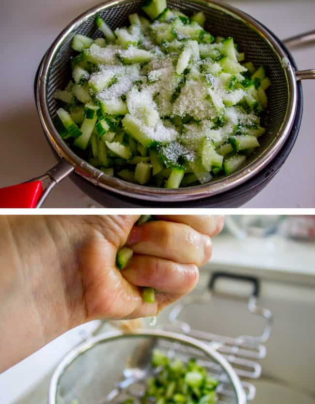 squeezing water out of cucumber