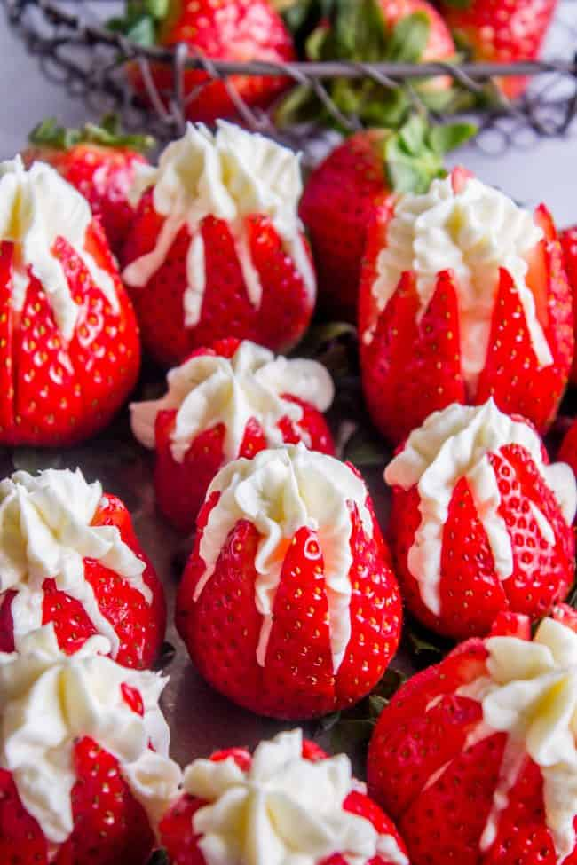 cream cheese stuffed strawberries