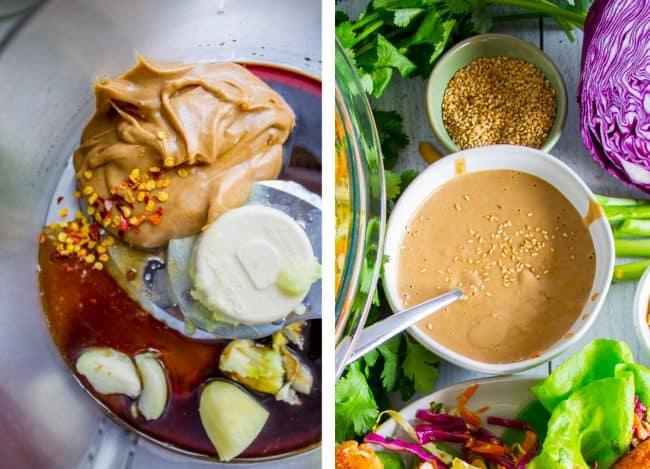 healthy thai lettuce wraps