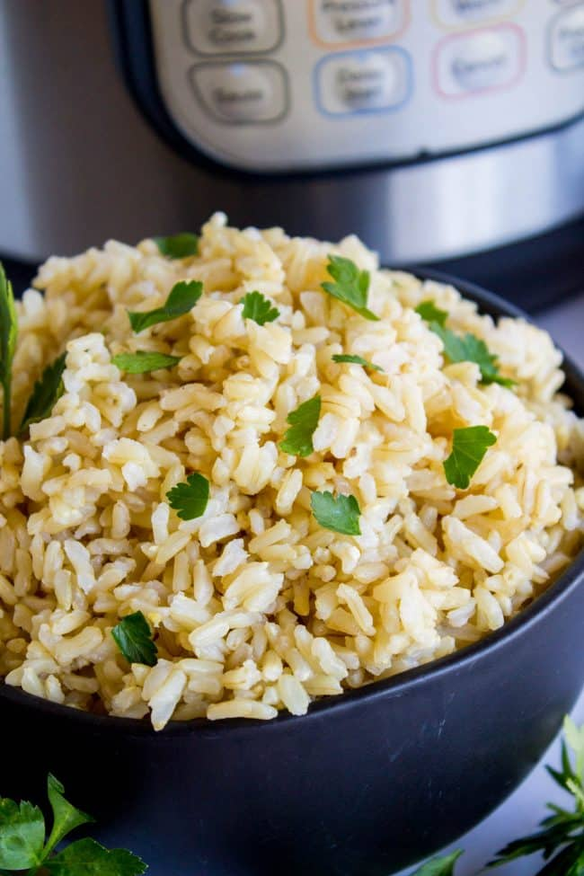 how to cook brown rice in instant pot