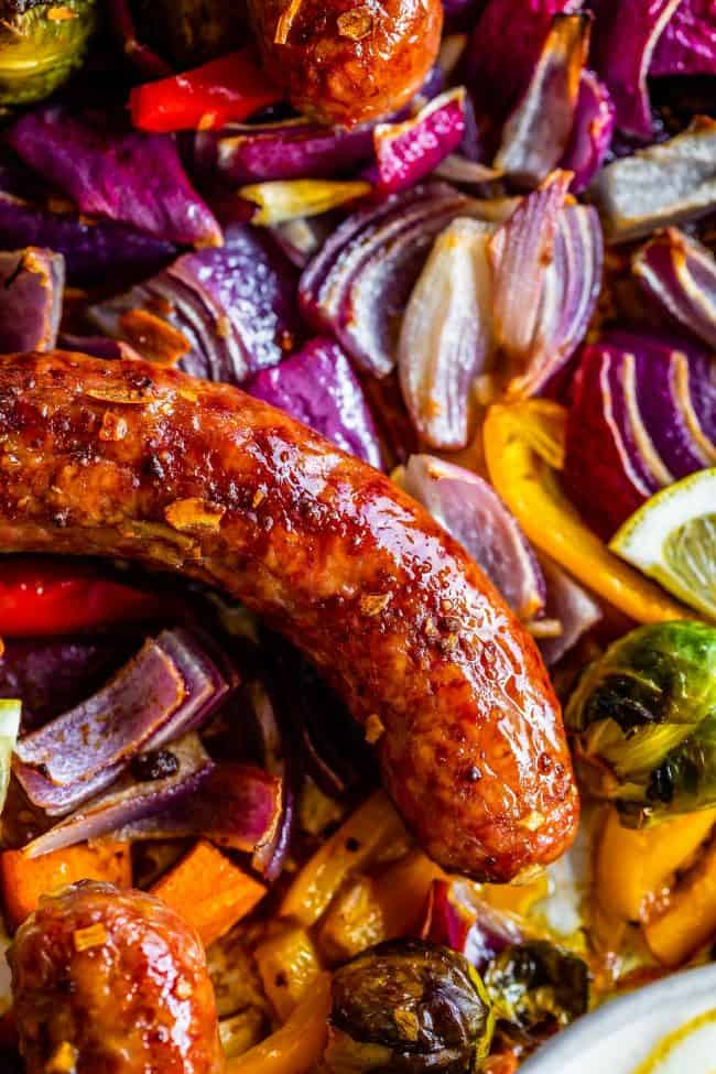 one pan sausage and veggies