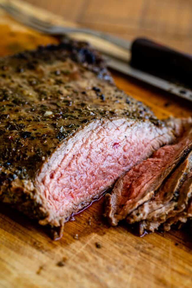 Broil flank steak