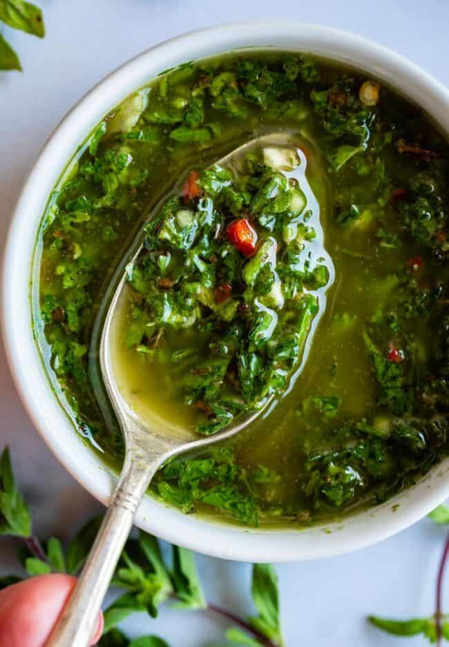 salsa fácil de chimichurri