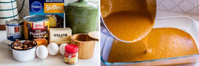 how to make pumpkin dump cake