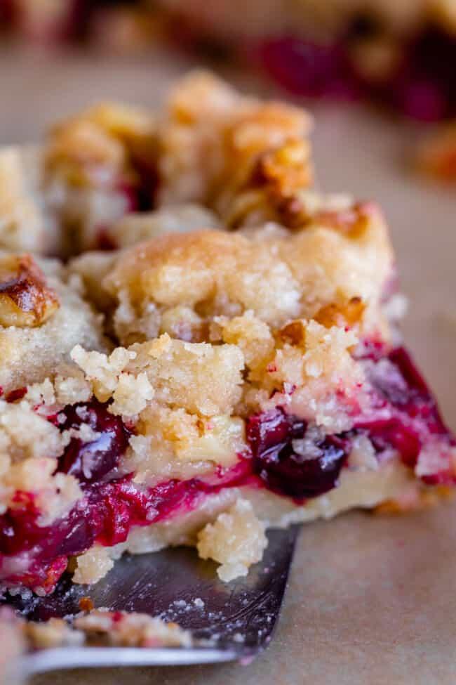 cranberry crumble bars