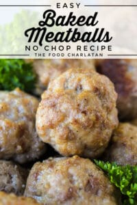 baked meatballs with parsley