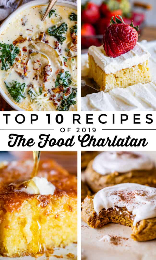 Top 10 recipes on The Food Charlatan in 2019!