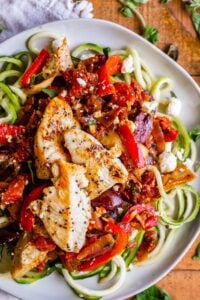 chicken and zoodles