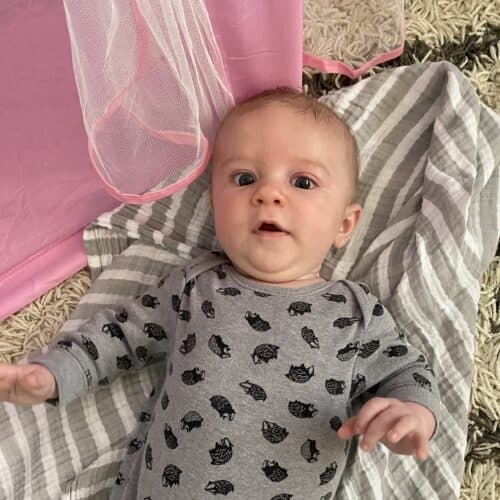 Cute baby on a blanket
