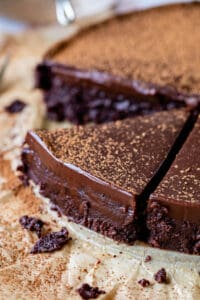 easy flourless chocolate cake