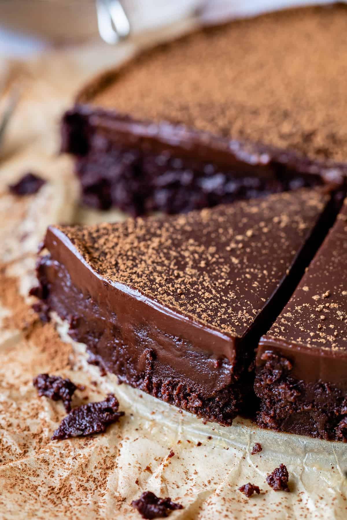 Flourless Chocolate Cake With Ganache The Food Charlatan