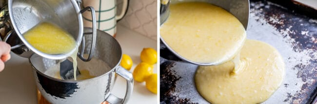 how to make lemon sheet cake batter