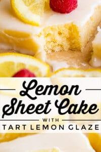 lemon texas sheet cake