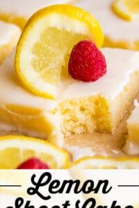 lemon sheet cake with glaze