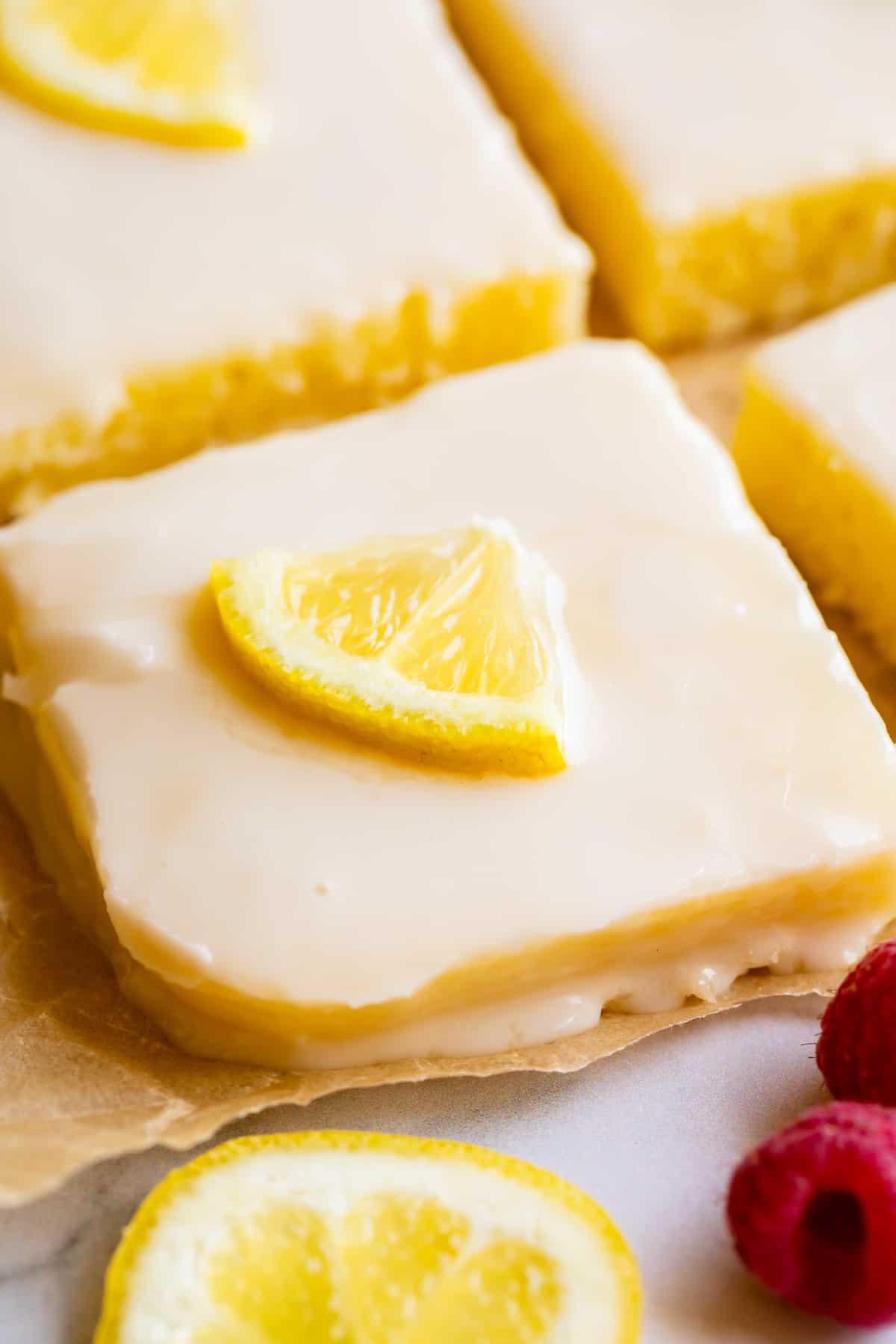 Lemon Sheet Cake With Lemon Glaze The Food Charlatan