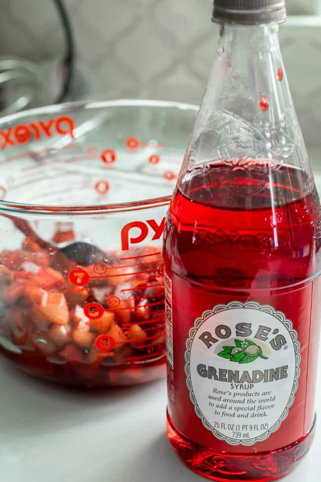 grenadine syrup for rhubarb bars