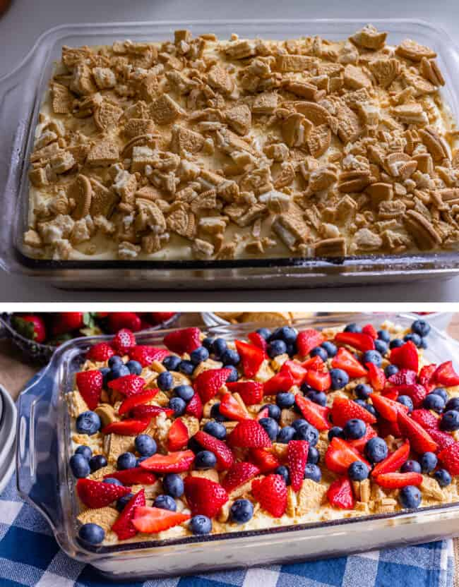 how to make 4th of July desserts no bake