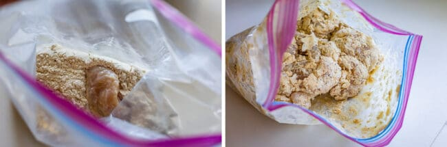 marinated chicken in a bag with dry ingredients