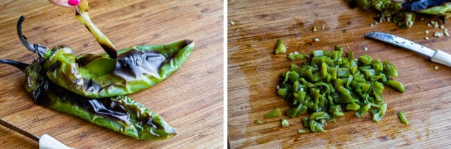 how to roast Anaheim peppers