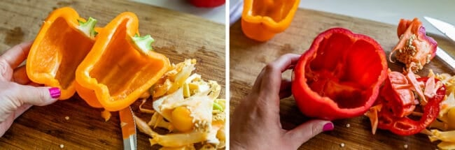 how to prepare peppers for stuffed peppers