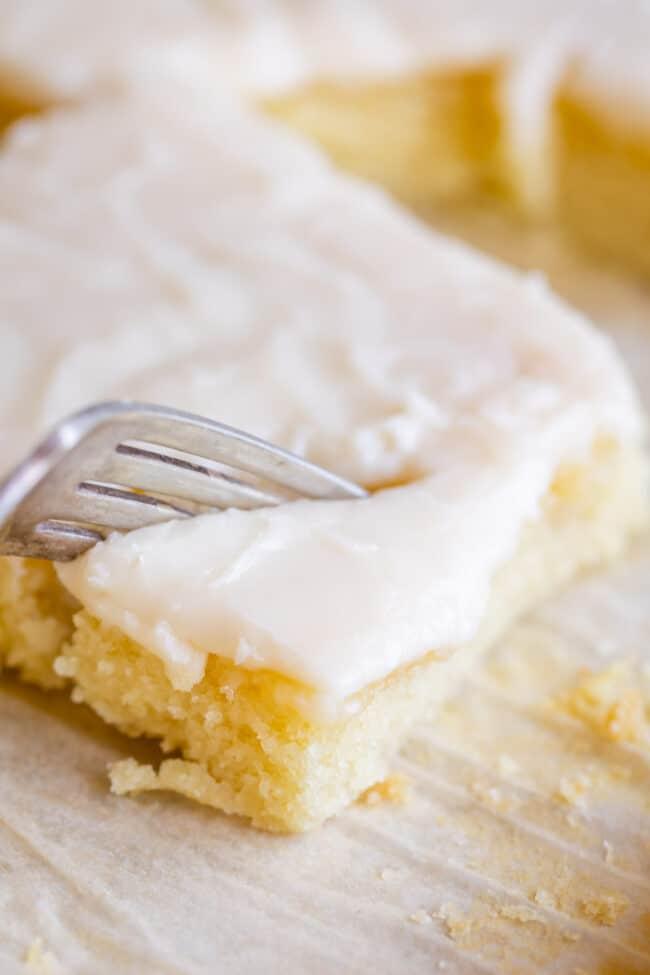 easy white texas sheet cake