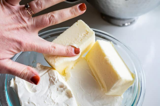 how to make cream cheese frosting, softened butter