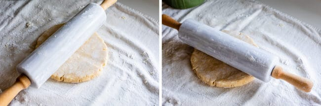 rotating rolling pin while rolling out pie dough
